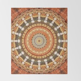 Mandala thankfulness Throw Blanket