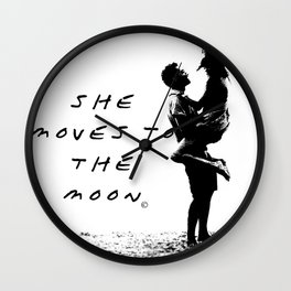 She moves to the Moon Wall Clock