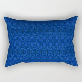 Blue Damask Wallpaper Rectangular Pillow