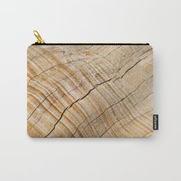 Weathered Wood Grain Carry-All Pouch