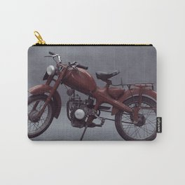 Old motorcycle photography, old motorbike, man cave sign, garage wall art Carry-All Pouch