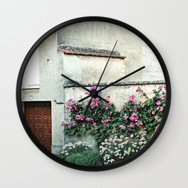 A House in the Tiny Village of Chamery, France Wall Clock