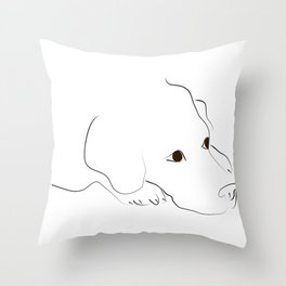 Golden Retriever Resting Throw Pillow