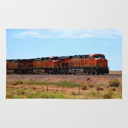 Orange BNSF Engines Rug