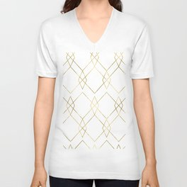 Gold Geometric Unisex V-Neck