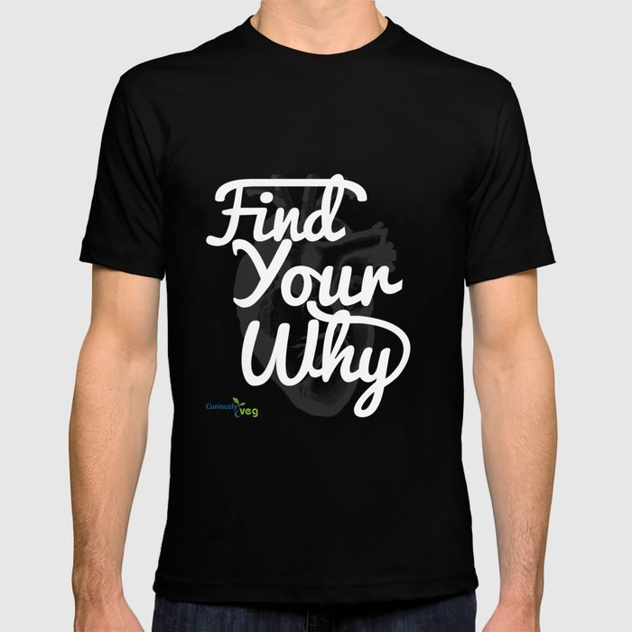 Find Your Why - White Text T-shirt