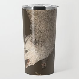 The Opossum and Peonies Travel Mug