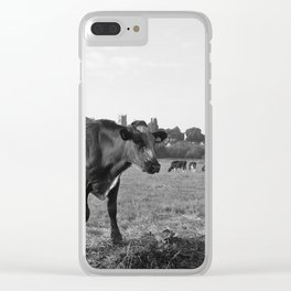 Cow Field Clear iPhone Case