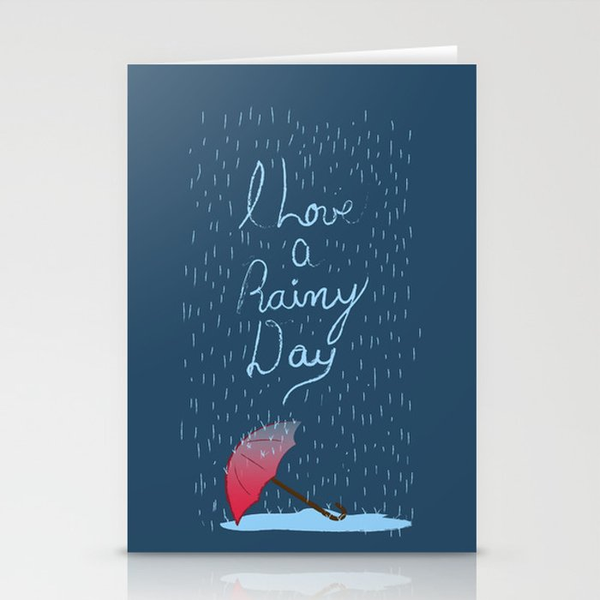 Love Rainy Days Stationery Cards