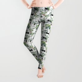 cats in the interior pattern Leggings