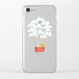 Hot cloud baloon - moon and star Clear iPhone Case