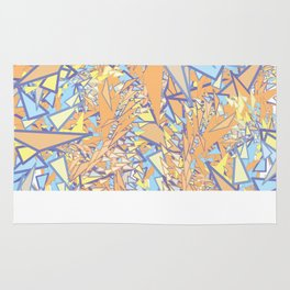Orange Yellow Blue Rug