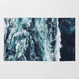 DARK BLUE OCEAN Rug