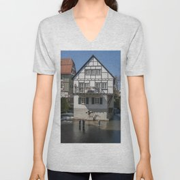 House in the water fisher quarter Ulm - Germany Unisex V-Neck