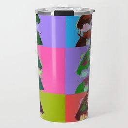 Aleister Crowley Pop Art Travel Mug