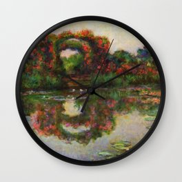 """Claude Monet """"Rose Arches at Giverny"""" Wall Clock"""