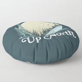 Up North Lake, Blue Spruce Floor Pillow