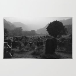 Foggy Graveyard...   Halloween Art   Rug