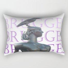 Brugges - 2013 - arte urbana - Foto de José Santhiago Rectangular Pillow