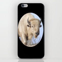 Emerging White Bison  iPhone Skin