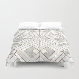 Lennox Vintage Deco - White & Gold Duvet Cover