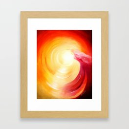 Soul journey into the light Framed Art Print