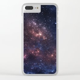 Stars and Nebula Clear iPhone Case