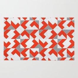 Marble Red Blocks Rug