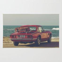 Red Supercar, classic car, triumph, spitfire, color photo, interior design, old car, auto Rug