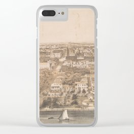 Vintage Pictorial Map of Charleston SC (1851) Clear iPhone Case
