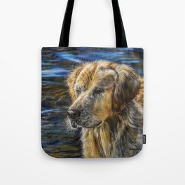 One Wet Golden Retriever by Teresa Thompson Tote Bag