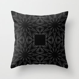 Slate Gray Colorburst Throw Pillow