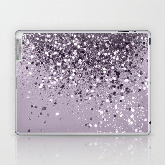 Sparkling Lavender Lady Glitter #2 #shiny #decor #art #society6 Laptop & iPad Skin