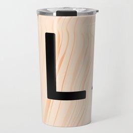 Scrabble Letter L - Large Scrabble Tiles Travel Mug