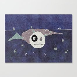 Toothworm by night Canvas Print