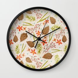 Quiet Walk In The Forest - A Soft And Lovely Pattern Wall Clock