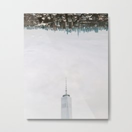 New York City Upside Down Metal Print