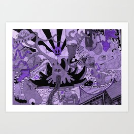 Contemporary Death Jazz Art Print