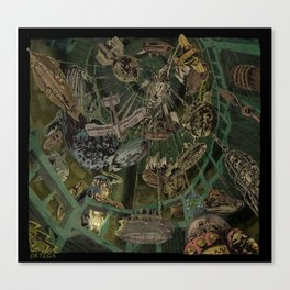 Skeleton Key Lighthouse 03. Treasures from the Briny Deep 02 Canvas Print