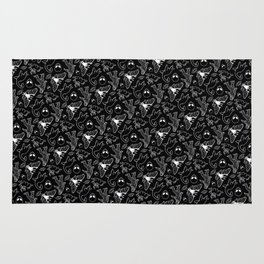 Cryptid Pattern: White Lines Rug