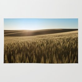 Palouse Sunset Photography Print Rug