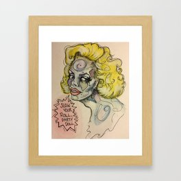 Slow Your Roll, Party Doll Framed Art Print