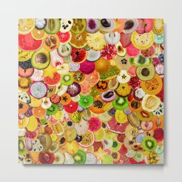 Fruit Madness (All The Fruits) Metal Print