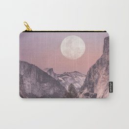 Pastel Full Moon Over Yosemite Park Carry-All Pouch
