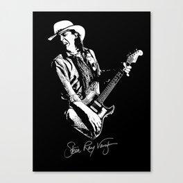 Stevie Ray Vaughan - Guitar-Blues-Rock-legend Canvas Print