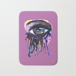 Rainbow eye splashing Bath Mat