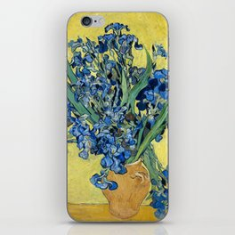 1890-Vincent van Gogh-Irises-73,5x92 iPhone Skin