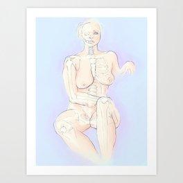 Figure Skeleton in color Art Print