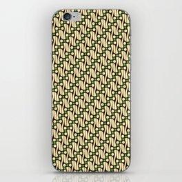 Batik Parang Green Pattern iPhone Skin