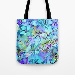 Sky Blue Poppies Tote Bag